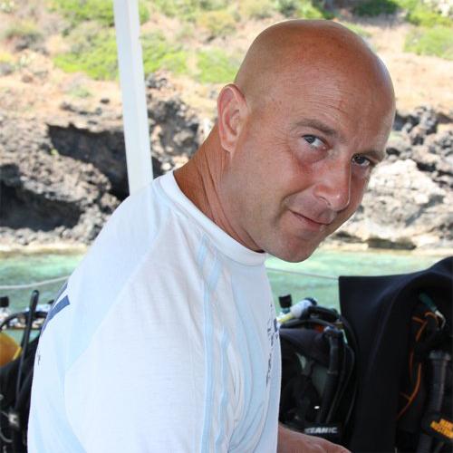 Danilo, capitano della Linosa Sunshine Dive Boat